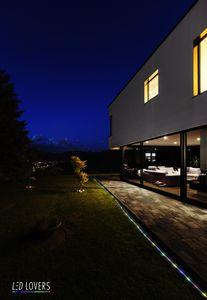 LED LOVERS Lichterkette mit 50 solarbetriebenen LED-Leuchten Bunt, Solar Gartenleuchten, Lichterkette für außen und innen, Dekorative Lichter für Partys, Empfänge, Hochzeiten