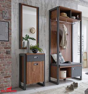 Garderobe Flurgarderobe Detroit Stirling Oak / schiefer