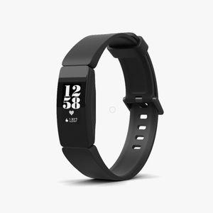 Fitbit Inspire HR - Aktivitäts-Trackerarmband - Schwarz - Schwarz - Silikon - Universalgröße - 50 m