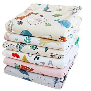 4 Stück Baby Infant Wasserdicht Matte Wickelauflage - Ökologische Baumwolle Atmungsaktiv Wiederverwendbar Matratze Pad Packung 30 x 40 cm