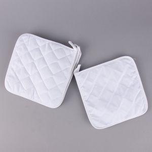 Creativ Company Topflappen Set 4 Stück aus Baumwolle weiß 20x20cm