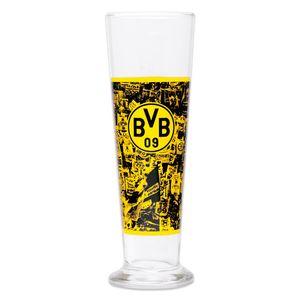 BVB Merchandising Borussia Dortmund 0,3 Liter Bierglas  - Unisex - Erwachsene