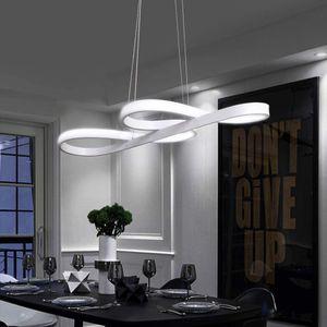 ZMH LED Pendelleuchte Weiß Hängelampe Wohnzimmer 47W Dimmbar mit Fernbedienung