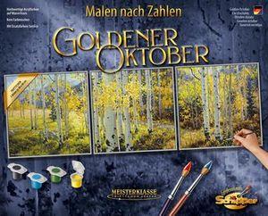 Schipper 609470829 Malen nach Zahlen Goldener Oktober Triptychon