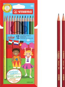 STABILO Buntstifte color sechseckig 12 + 2 Promo-Etui