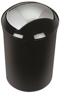 """Spirella Design Kosmetikeimer 10.14388 """"Sydney"""" Bad Treteimer Schwingdeckeleimer Abfallbehälter mit Schwingdeckel 5 Liter (ØxH): 19 x 30 cm Schwarz"""