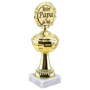 Pokal gold mit Marmorsockel, Geschenk, Jubiläum, GeburtstagVariante: Bester Papa