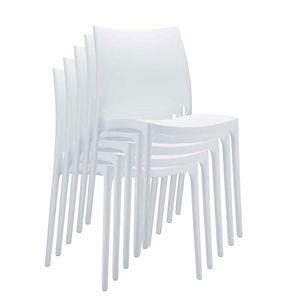 Stapelstuhl Bistrostuhl Gartenstuhl Kunststoff C44  weiß