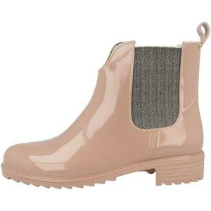 Rieker Damen Gummistiefel Warmfutter Chelsea Boots P8280, Größe:38 EU, Farbe:Rosa