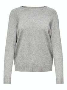 Only Damen Pullover 15170427 Medium Grey Melange
