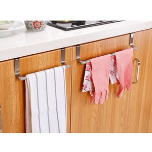 2 Stücke Handtuchhalter Bar Halter Küche Über Der Tür Schrank Lagerung Kleiderbügel Haken