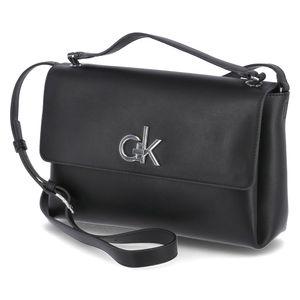 Calvin Klein Handtasche FLAP TOP H MD Schwarz Damen
