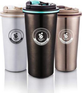 Coffee Cloud Edelstahl Kaffeebecher 500ml   Doppelwandig vakuumisolierter Travel Mug   Thermobecher aus Edelstahl   Isolierbecher BPA Frei, Leicht & Auslaufsicher (Anthrazit)…