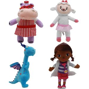 4 Stück Doktor Doc McStuffins Muffin Hippo Plüschtier Puppe 30cm