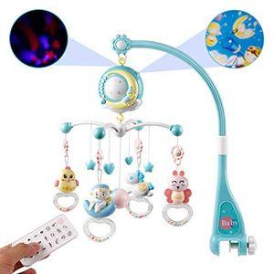 Baby Mobile für Kinderbett Krippe mit Licht und Musik,Projektor und Fernbedienung