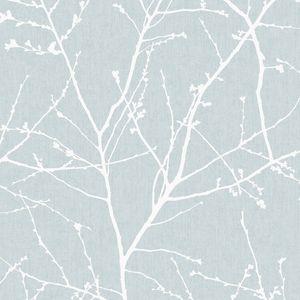 Superfresco Easy - Zweig Hellblau - Vliestapete - 10m x 52cm