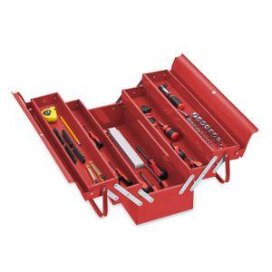 relaxdays Werkzeugkoffer leer rot