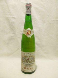 riesling auguste gerber (b2 étiquette tâché) blanc 1981 - alsace france