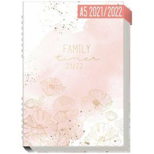 Häfft Family-Timer 2021/2022 Blush Flower / A5+ / 18 Monate