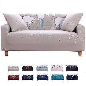 Elastischer Sofa-Überwürfe Antirutsch Stretch Sofaüberzug, Sofahusse, Sofabezug, Sofa Abdeckung Hussen für Sofa, Couch, Sessel (1 Sitzer, Eisbär)