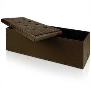 Sitzhocker Sitzbank Truhenbank Sitzwürfel Ottomane Sitztruhe Spielzeugkiste Bank, Variante:XL - Braun