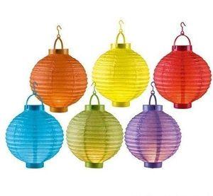 6 Stück LED Lampion Batteriebetrieben Ø 20 cm (6 Farben)