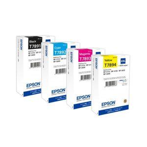 Original Epson Set T7891-7894 BK/C/M/Y C13T789140-T789440