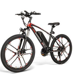 """SAMEBIKE 26"""" 350W 48V 8AH Elektrofahrrad Mountainbike Faltbar E-Bike Power 30km/h Trekking Bike bis 150kg--Schwarz"""