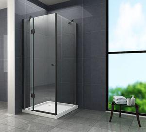 Duschkabine NOVUM (schwarz) 100 x 100 x 195 cm ohne Duschtasse