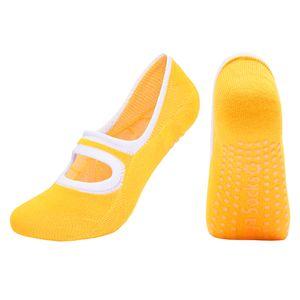 Rutschfeste Yoga-Socken Tanz Ballet Socken für Pilates Fitness Gymnastik Orange onr Größe