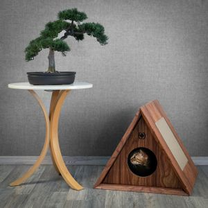 Kratzmöbel Triangle House   walnuss   Höhle für Katzen
