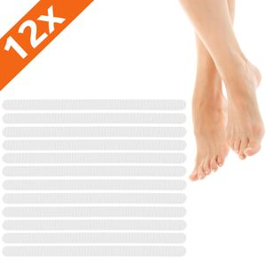 ECENCE Antirutsch-Streifen Dusche & Badewanne, 12er Set Duscheinlage, Badewanneneinlage transparent,