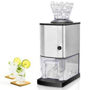 COSTWAY Eiscrusher Ice Crusher Maschine elektrisch Eiszerkleinerer 15kg/h 3,5L Edelstahlgehaeuse