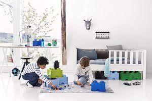 LEGO Aufbewahrungsbox mit Schublade mit 8 Noppen, weiß
