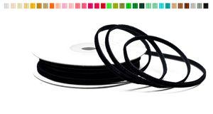 SAMTBAND 3mm, 10 Meter, Farbauswahl:schwarz 030