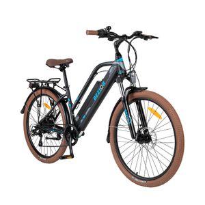 BEZIOR M2 26 Zoll Elektrisches Fahrrad Electric Bike E-Bike Faltrad Citybike Elektrofahrrad mit LED Leucht Scheinwerfer 48V 25km/h 250W 12,5Ah, Schwarz