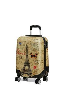 Print Trolley bags Bowatex Motiv Koffer Dehnfalte Paris Schmetterling L 66 cm
