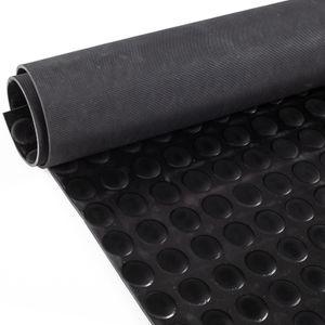 Gummimatte Schutzmatte Noppenmatte Bodenmatte mit Noppen Gummiläufer 100cm Breit 3mm stark Schwarz 150 x 100cm