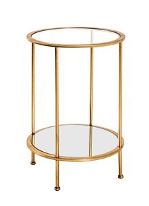 Haku Beistelltisch, gold - Maße: Ø 38 cm x 55 cm; 20286