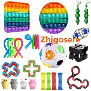 26 Stück / Set Pop It! Fidget Sensory Toy Set Autismus Stressabbau Sonderpädagogik Spielzeug Für Erwachsene Kinder