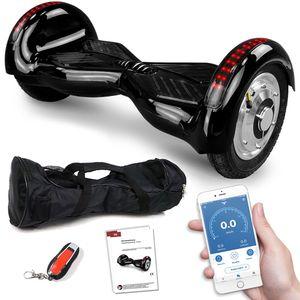 Hoverboard 800 Watt Crossrover mit App Funktion, 10 Zoll Bereifung, Bluetooth Lautsprecher, Kinder Sicherheitsmodus, Elektro Self Balance Balance E-Scooter GPX-03 SUV - Schwarz