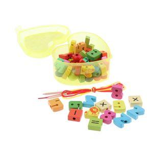 Kleinkind Kinder  Schnürperlen Spielzeug Feinmotorik Fähigkeiten Farbe Nummer