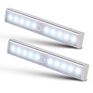 monzana 2er Set LED Schrankleuchte mit Bewegungsmelder Unterbauleuchte Schrankbeleuchtung Nachtlicht Lampe