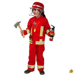 Kostüm Feuerwehr Junge Tim, rot, Größe:104