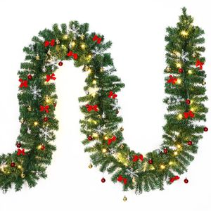 Casaria Weihnachtsgirlande Tannengirlande Weihnachtsdeko Girlande, Variante:5m geschmückt 80 LEDs