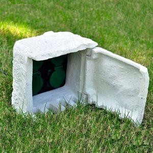 anlund Gartensteckdose 4-fach Wasserdicht Kunstharz Weiß