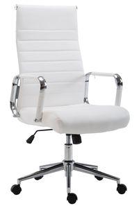 CLP Bürostuhl Kolumbus Kunstleder höhenverstellbar und drehbar, Farbe:weiß