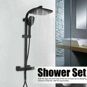 Duschset Duschsystem Duscharmatur schwarz Regendusche Duscharmatur Duschsäule mit Handbrause