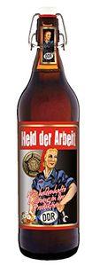 Held der Arbeit - Ostalgie-Bier 1 Liter Flasche mit Bügelverschluss (keine Geschenkverpackung)