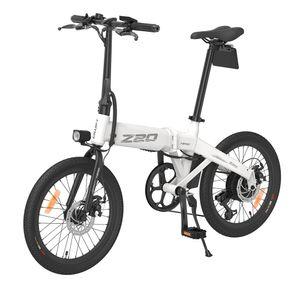 HIMO Z20 Faltbares Elektrofahrrad E-Bike Citybike, 20 Zoll 25 km/h 36V 250W, 80KM Laufleistung, Shimano 6-Speed, hochauflösendes LCD-Display, mehrere Fahrmodi, bis 100kg, Weiß